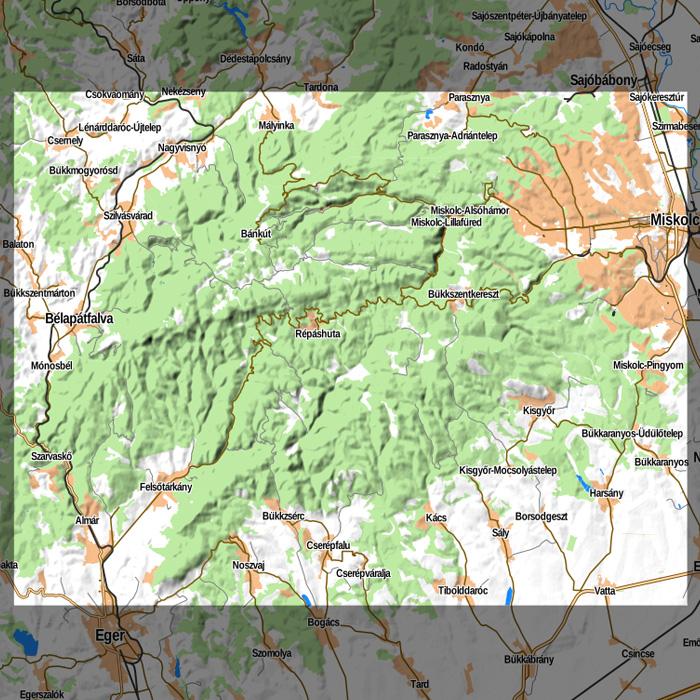 bükk domborzati térkép Offline Raster Maps (Android, iOS) bükk domborzati térkép